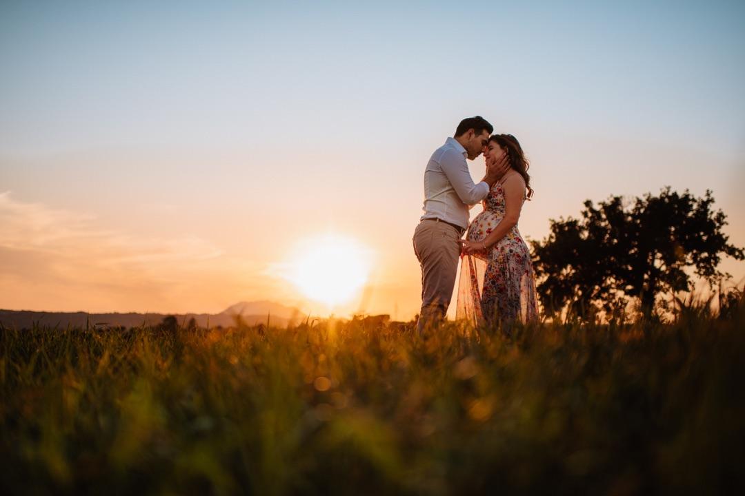Servizio fotografico Family con un tramonto magico